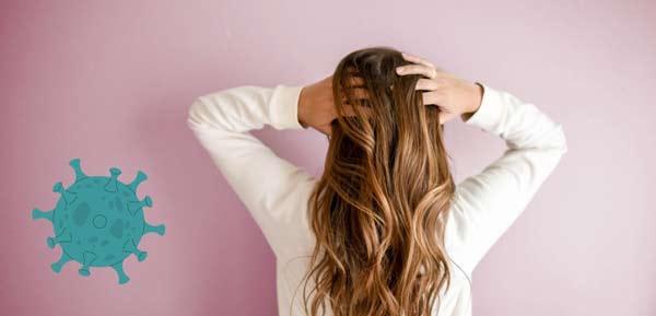 covid a padání vlasů